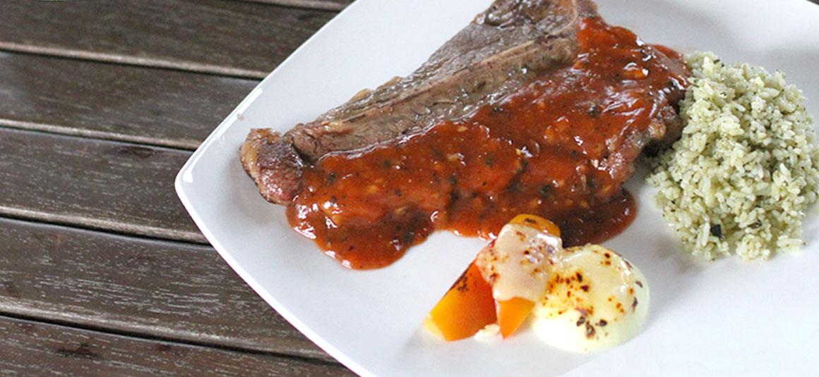 T-Bone Steak with BBQ Sauce