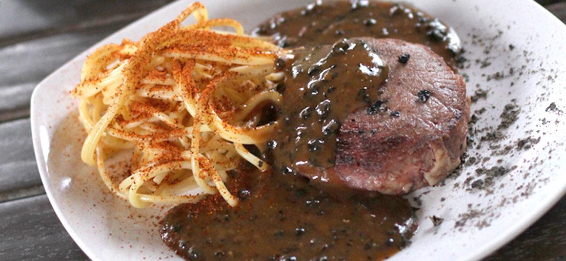 Tenderloin Steak with Black Pepper Sauce